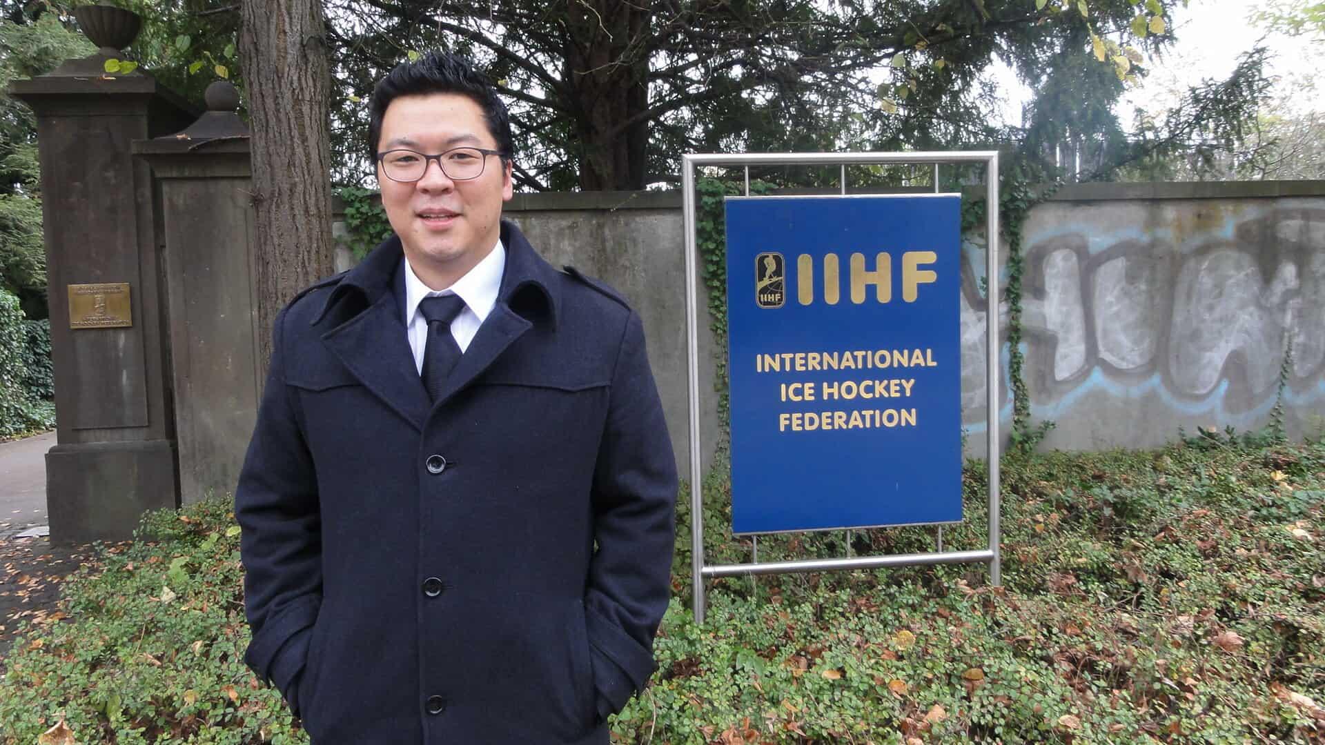Martin Hyun beim IIHF in Z?rich.