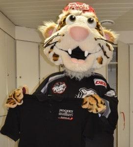 Maskottchen Pucki von den Nürnberg Ice Tigers