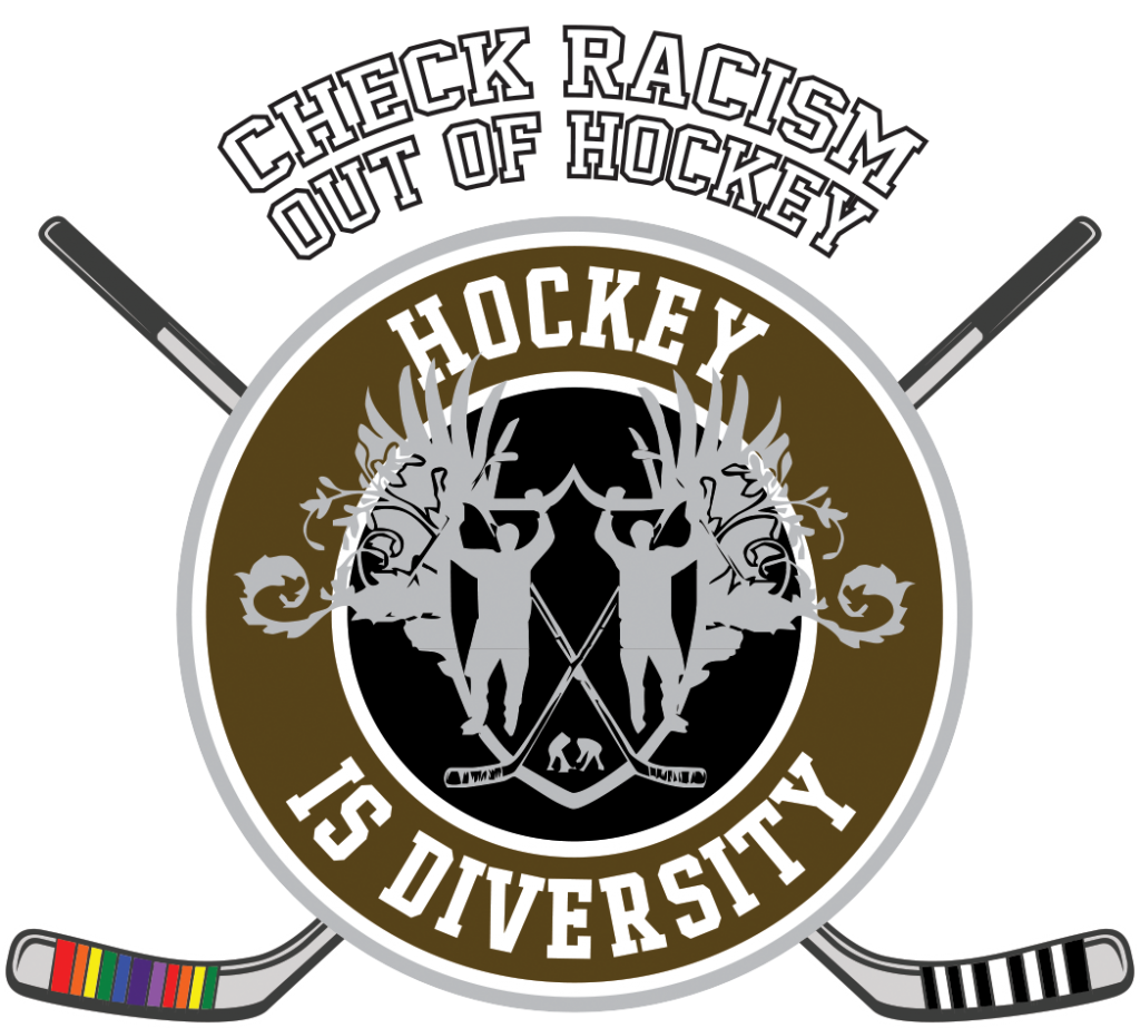 Hockey is Diversity Logo braun