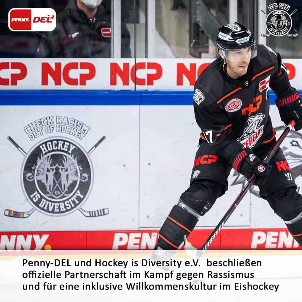 Deutsche Eishockey Liga DEL kooperiert mit Hockey is Diversity