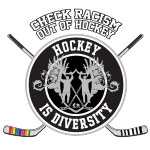 Check Racism out of Hockey Logo