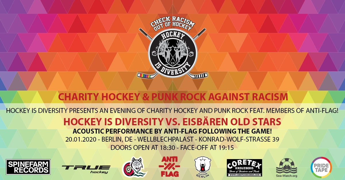 Hockey is Diversity Background Charity